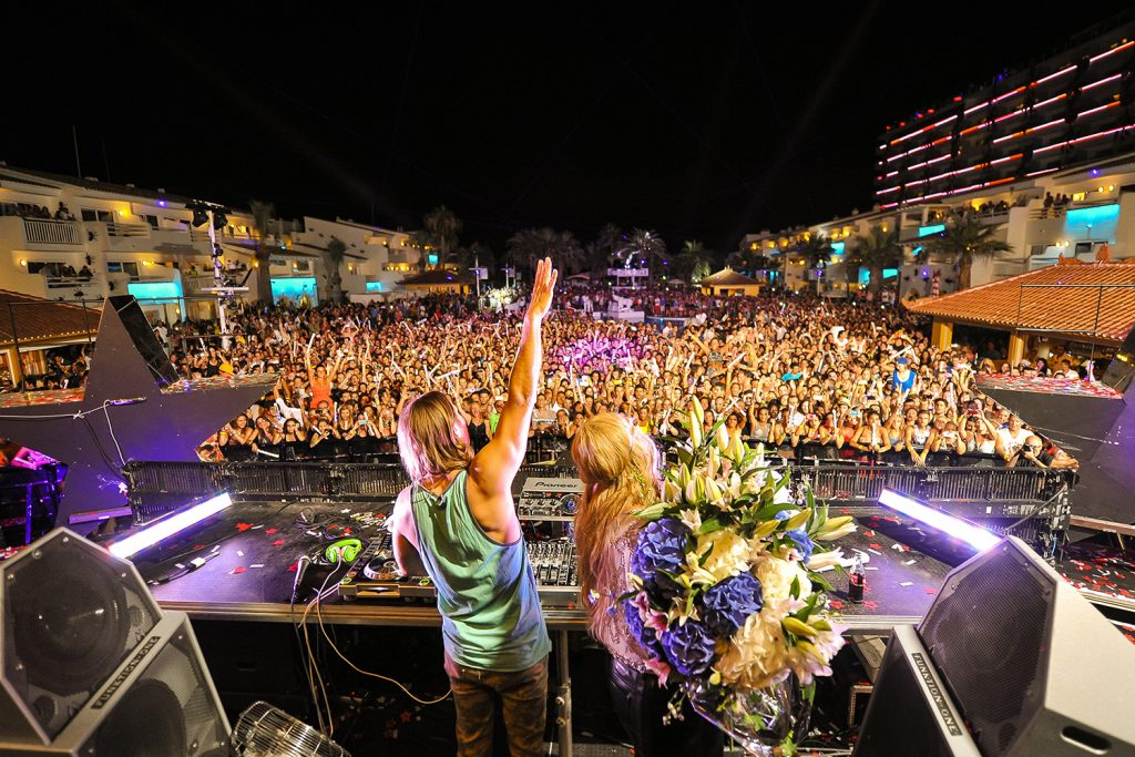 One of David Guetta's live shows.