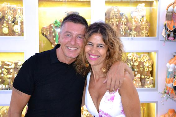 Elisa Pomar with Steffano Gabbana.