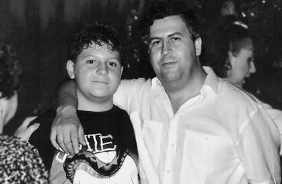Pablo Escobar and his son Juan.